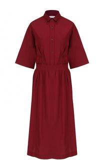 Приталенное платье-рубашка с укороченным рукавом Dries Van Noten