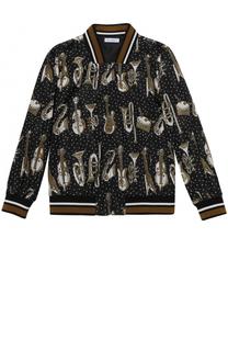 Бомбер с принтом на молнии Dolce & Gabbana