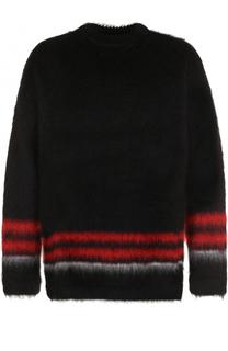 Шерстяной свитер с контрастной отделкой Loewe