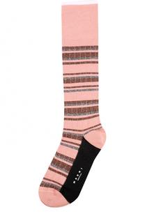 Хлопковые носки с металлизированной нитью Marni