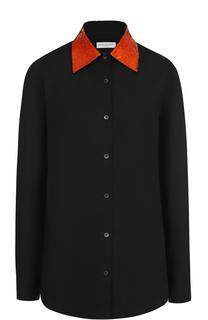 Блуза свободного кроя с декорированным воротником Dries Van Noten
