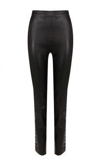 Укороченные кожаные брюки-скинни DROMe