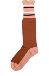 Хлопковые носки с оборкой Marni