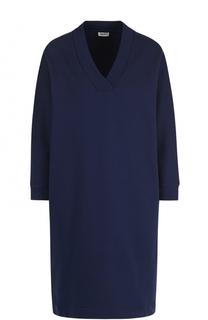 Мини-платье прямого кроя с V-образным вырезом Kenzo