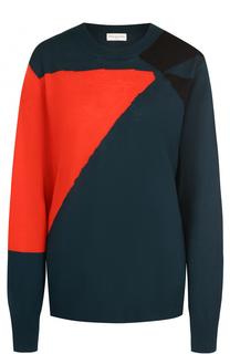 Пуловер с круглым вырезом и принтом Dries Van Noten