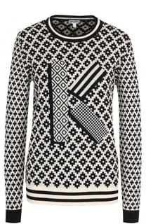Пуловер с принтом и круглым вырезом Kenzo