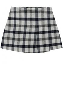 Мини-юбка с принтом и складками Il Gufo