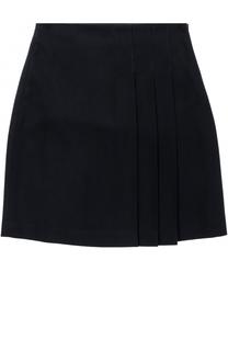 Мини-юбка со складками и прострочкой Il Gufo