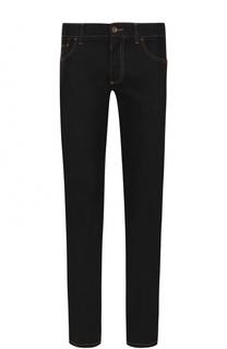 Зауженные джинсы с контрастной прострочкой Dolce & Gabbana