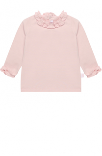 Пуловер из эластичного хлопка с оборками Il Gufo