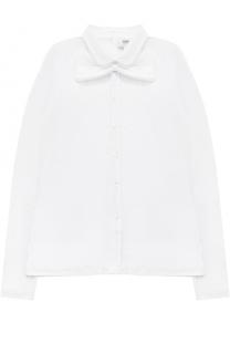 Блуза прямого кроя с бантом Aletta