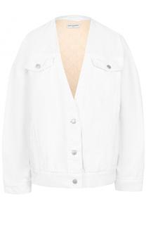 Джинсовая куртка свободного кроя с V-образным вырезом Dries Van Noten