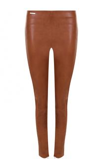 Кожаные брюки-скинни Polo Ralph Lauren