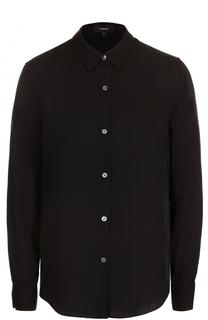 Приталенная шелковая блуза Theory