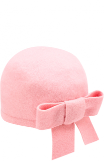 Шерстяная шапка с бантом I Pinco Pallino