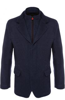 Укороченное кашемировое пальто на молнии Kiton