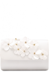 Клатч с цветочными аппликациями David Charles