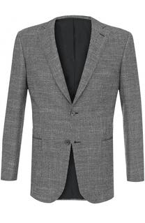 Однобортный пиджак из смеси шерсти и кашемира с шелком Brioni