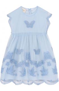 Хлопковое платье с вышивкой Gucci