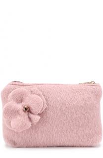 Клатч из шерсти с цветочной аппликацией I Pinco Pallino