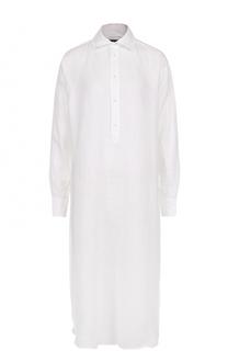 Удлиненная льняная блуза свободного кроя Polo Ralph Lauren
