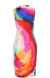 Приталенное платье-миди с принтом Ralph Lauren
