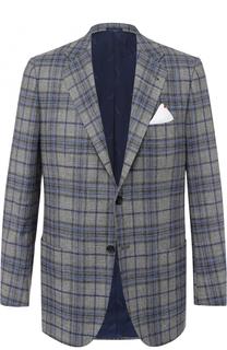 Однобортный пиджак из смеси шерсти и кашемира с шелком Kiton