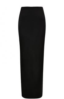 Шелковая юбка-макси с разрезом Giorgio Armani