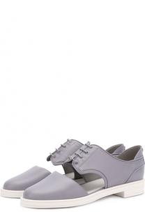 Кожаные ботинки с вырезом Giorgio Armani
