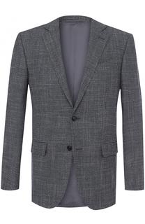 Однобортный пиджак из смеси шерсти и кашемира с шелком Ermenegildo Zegna