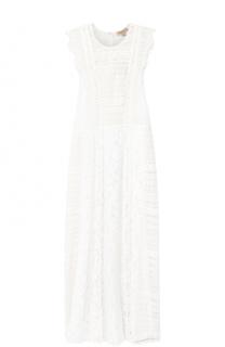 Кружевное приталенное платье-миди Burberry