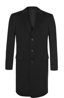 Однобортное кашемировое пальто с отложным воротником Ermenegildo Zegna