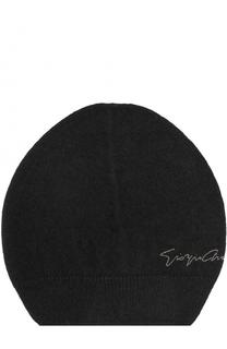 Вязаная шапка с надписью Giorgio Armani