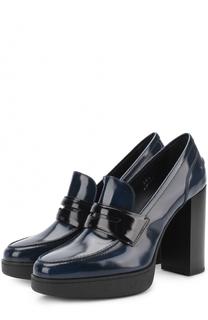Лаковые туфли с перемычкой Tod's Tods
