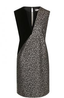 Шелковое мини-платье прямого кроя Lanvin