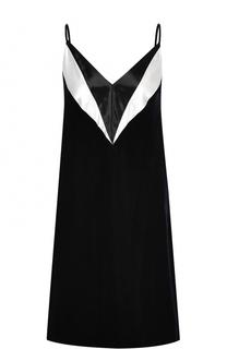 Платье-комбинация на тонких бретельках Lanvin