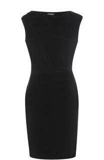 Приталенное бархатное платье без рукавов Kiton