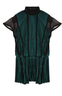 Плиссированное мини-платье Sacai