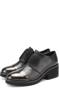 Кожаные ботинки на устойчивом каблуке Vic Matie