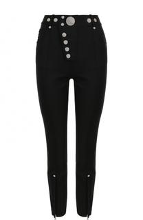 Укороченные брюки-скинни с металлизированной отделкой Alexander Wang