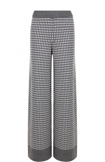 Шерстяные расклешенные брюки с принтом Tak.Ori
