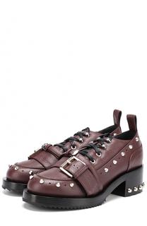 Кожаные ботинки с заклепками No. 21