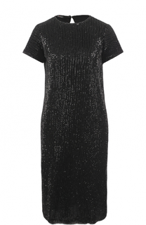 Платье-миди с круглым вырезом и пайетками Kiton