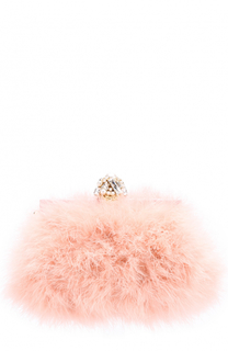 Клатч Vanda с отделкой из перьев Dolce & Gabbana