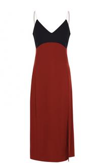 Платье-комбинация с контрастным лифом DKNY