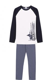 Хлопковая пижама с принтом La Perla