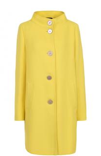Пальто прямого кроя с воротником-стойкой Windsor