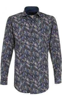 Хлопковая рубашка с узором пейсли Paul&Shark Paul&Shark