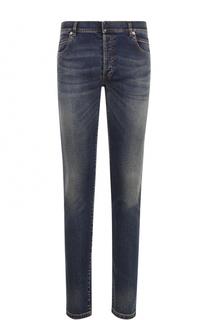 Зауженные джинсы с потертостями Balmain