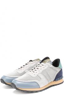 Комбинированные кроссовки Rockrunner с контрастной отделкой Valentino